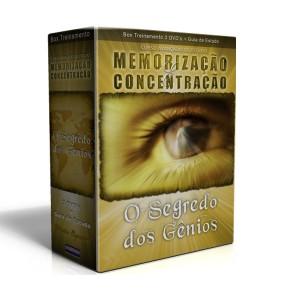 Curso Avançado de Estudo - Memorização e Concentração - Box 3 DVD´s + Guia de Estudos