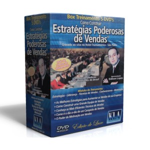 COMO CONSTRUIR ESTRATÉGIAS PODEROSAS DE VENDAS - 5 DVD's - EDILSON LOPES