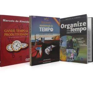 Kit - COMO ORGANIZAR SEU TEMPO E GANHAR MAI$ - 1 DVD + 1 ÁUDIO LIVRO + 1 LIVRO