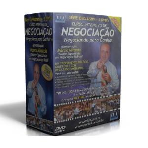 Box - NEGOCIANDO PARA GANHAR - 5 DVD's - Marcio Miranda